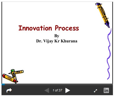 More on Creativity (Invention) and Innovation